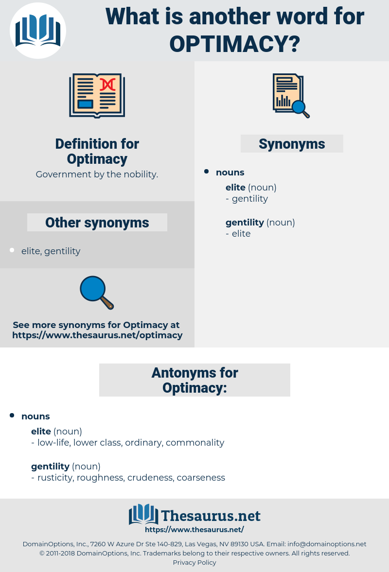 Optimacy, synonym Optimacy, another word for Optimacy, words like Optimacy, thesaurus Optimacy