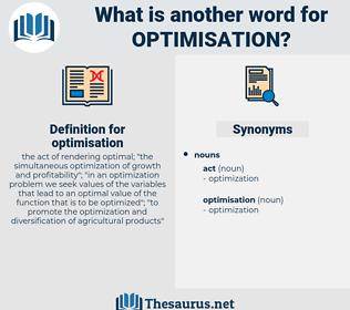 optimisation, synonym optimisation, another word for optimisation, words like optimisation, thesaurus optimisation