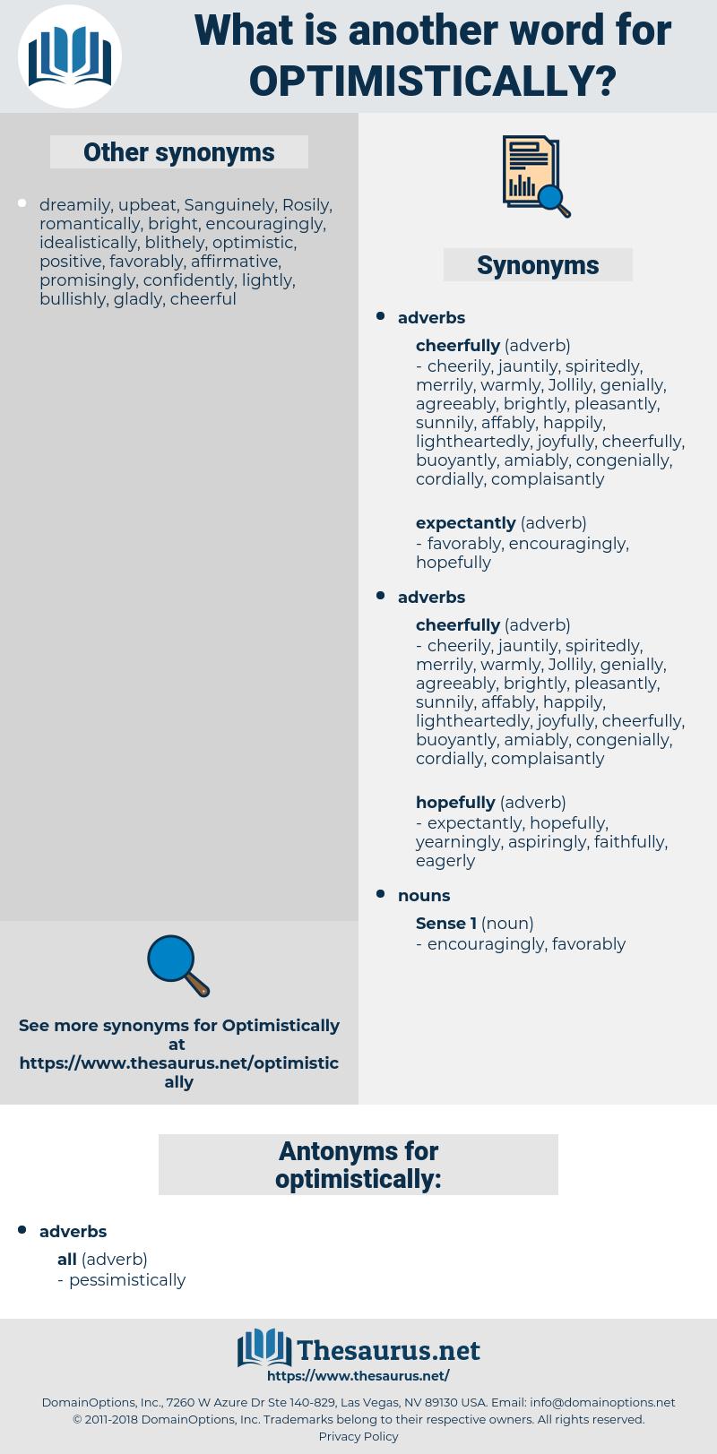 optimistically, synonym optimistically, another word for optimistically, words like optimistically, thesaurus optimistically