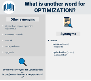 Synonyms For Optimization Antonyms For Optimization Thesaurus Net