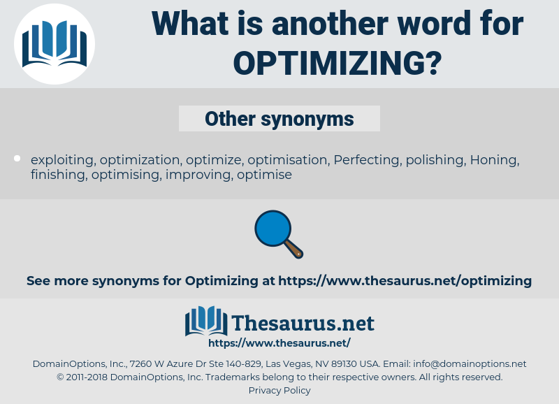 Synonyms For Optimizing Thesaurus Net