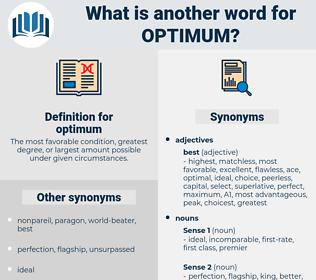 optimum, synonym optimum, another word for optimum, words like optimum, thesaurus optimum