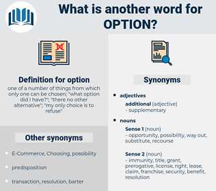 option, synonym option, another word for option, words like option, thesaurus option