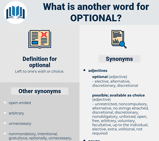 optional, synonym optional, another word for optional, words like optional, thesaurus optional