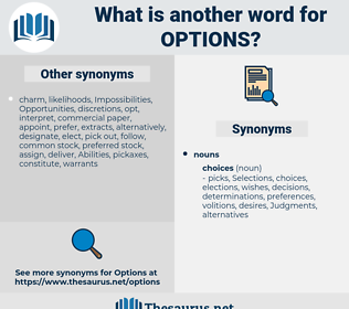 options, synonym options, another word for options, words like options, thesaurus options