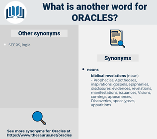 oracles, synonym oracles, another word for oracles, words like oracles, thesaurus oracles
