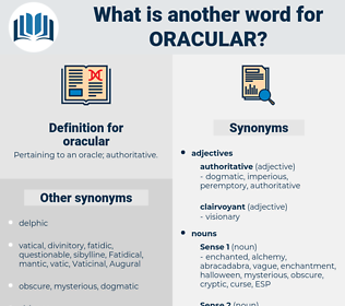 oracular, synonym oracular, another word for oracular, words like oracular, thesaurus oracular