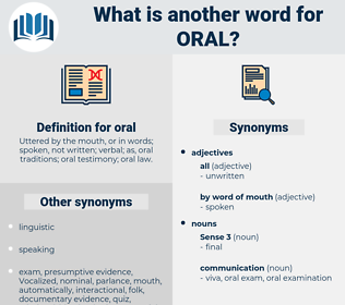 oral, synonym oral, another word for oral, words like oral, thesaurus oral
