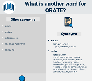 orate, synonym orate, another word for orate, words like orate, thesaurus orate