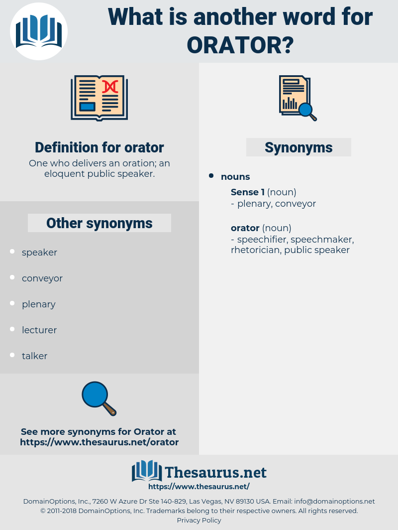 orator, synonym orator, another word for orator, words like orator, thesaurus orator