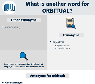 orbitual, synonym orbitual, another word for orbitual, words like orbitual, thesaurus orbitual