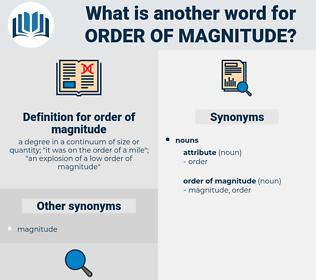 order of magnitude, synonym order of magnitude, another word for order of magnitude, words like order of magnitude, thesaurus order of magnitude