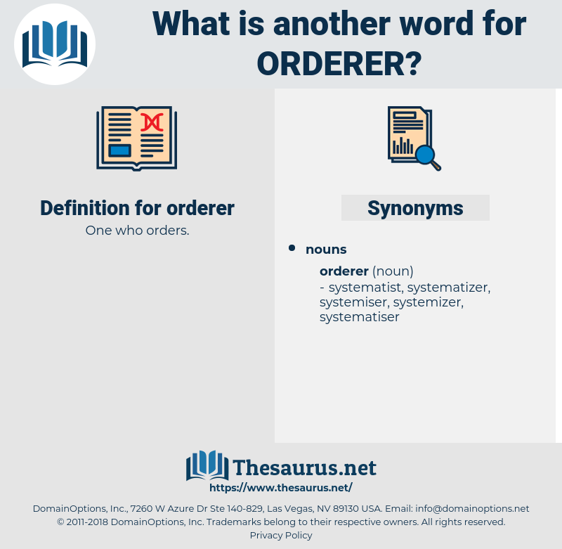 orderer, synonym orderer, another word for orderer, words like orderer, thesaurus orderer