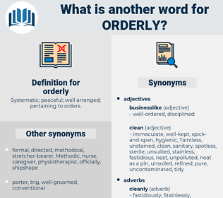 orderly, synonym orderly, another word for orderly, words like orderly, thesaurus orderly