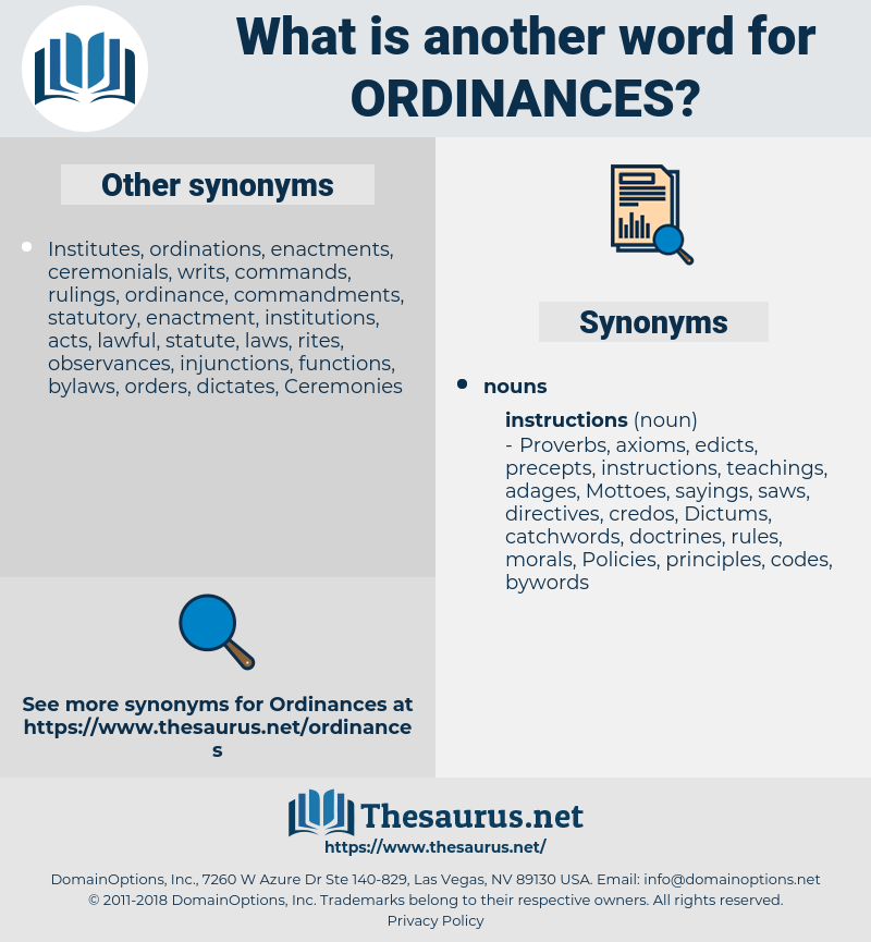 ordinances, synonym ordinances, another word for ordinances, words like ordinances, thesaurus ordinances