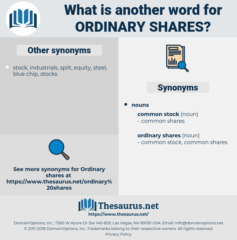 ordinary shares, synonym ordinary shares, another word for ordinary shares, words like ordinary shares, thesaurus ordinary shares