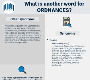 ordnances, synonym ordnances, another word for ordnances, words like ordnances, thesaurus ordnances