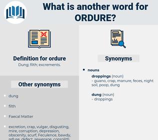 ordure, synonym ordure, another word for ordure, words like ordure, thesaurus ordure