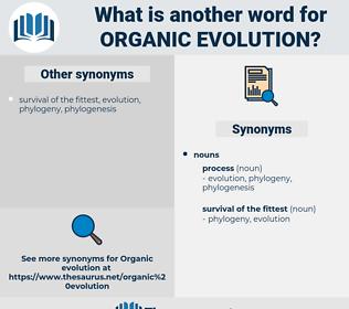 organic evolution, synonym organic evolution, another word for organic evolution, words like organic evolution, thesaurus organic evolution
