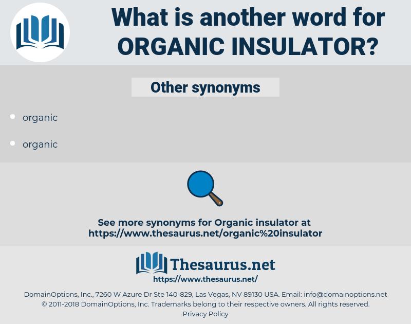 organic insulator, synonym organic insulator, another word for organic insulator, words like organic insulator, thesaurus organic insulator