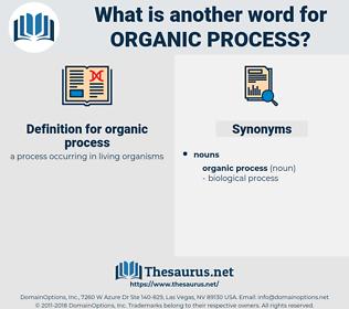 organic process, synonym organic process, another word for organic process, words like organic process, thesaurus organic process
