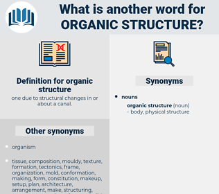 organic structure, synonym organic structure, another word for organic structure, words like organic structure, thesaurus organic structure