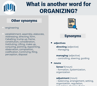 Organizing, synonym Organizing, another word for Organizing, words like Organizing, thesaurus Organizing