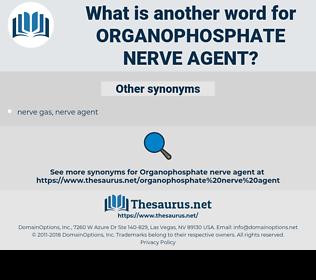 organophosphate nerve agent, synonym organophosphate nerve agent, another word for organophosphate nerve agent, words like organophosphate nerve agent, thesaurus organophosphate nerve agent