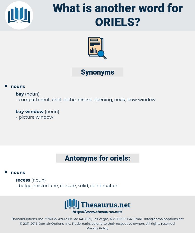 oriels, synonym oriels, another word for oriels, words like oriels, thesaurus oriels
