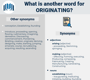 Originating, synonym Originating, another word for Originating, words like Originating, thesaurus Originating