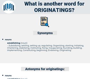 originatings, synonym originatings, another word for originatings, words like originatings, thesaurus originatings