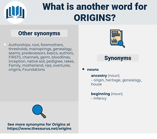 origins, synonym origins, another word for origins, words like origins, thesaurus origins