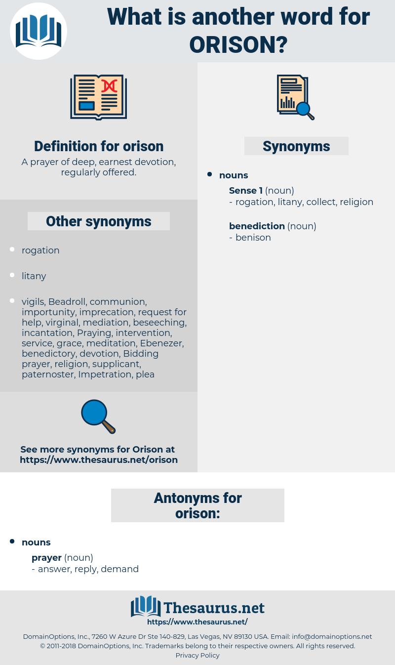 orison, synonym orison, another word for orison, words like orison, thesaurus orison