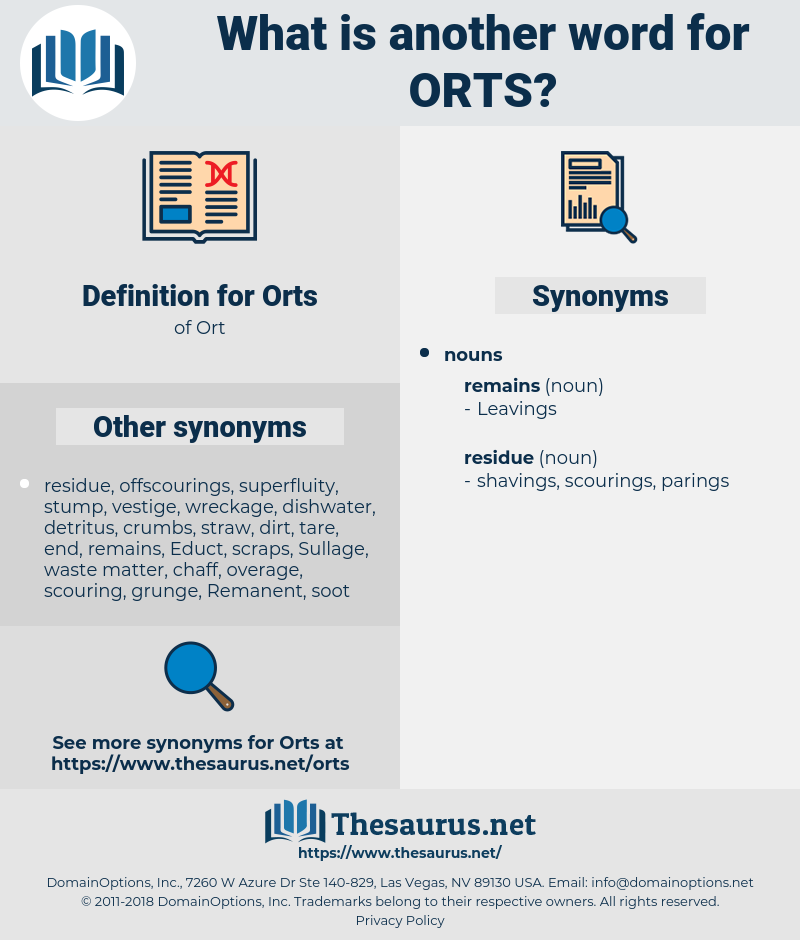 Orts, synonym Orts, another word for Orts, words like Orts, thesaurus Orts