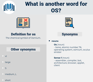 os, synonym os, another word for os, words like os, thesaurus os