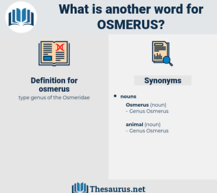 osmerus, synonym osmerus, another word for osmerus, words like osmerus, thesaurus osmerus
