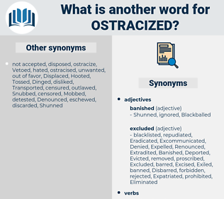 Ostracized, synonym Ostracized, another word for Ostracized, words like Ostracized, thesaurus Ostracized
