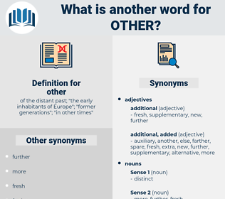 other, synonym other, another word for other, words like other, thesaurus other
