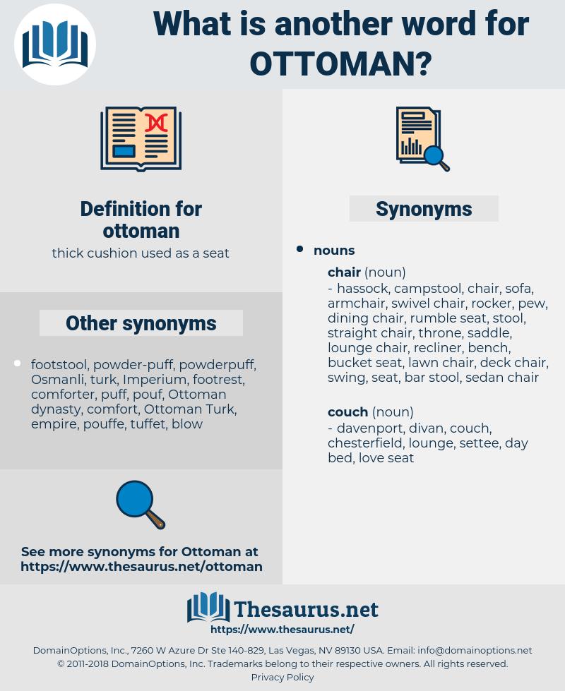 ottoman, synonym ottoman, another word for ottoman, words like ottoman, thesaurus ottoman