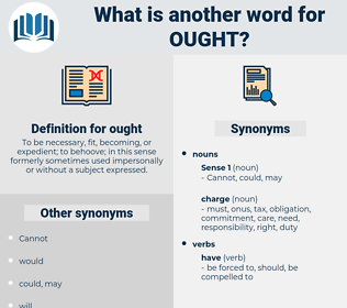 ought, synonym ought, another word for ought, words like ought, thesaurus ought