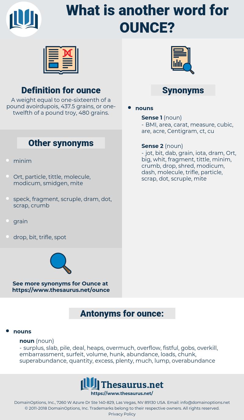ounce, synonym ounce, another word for ounce, words like ounce, thesaurus ounce