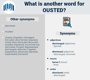 Ousted, synonym Ousted, another word for Ousted, words like Ousted, thesaurus Ousted