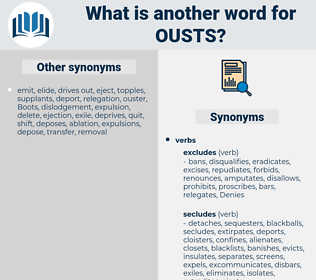 ousts, synonym ousts, another word for ousts, words like ousts, thesaurus ousts