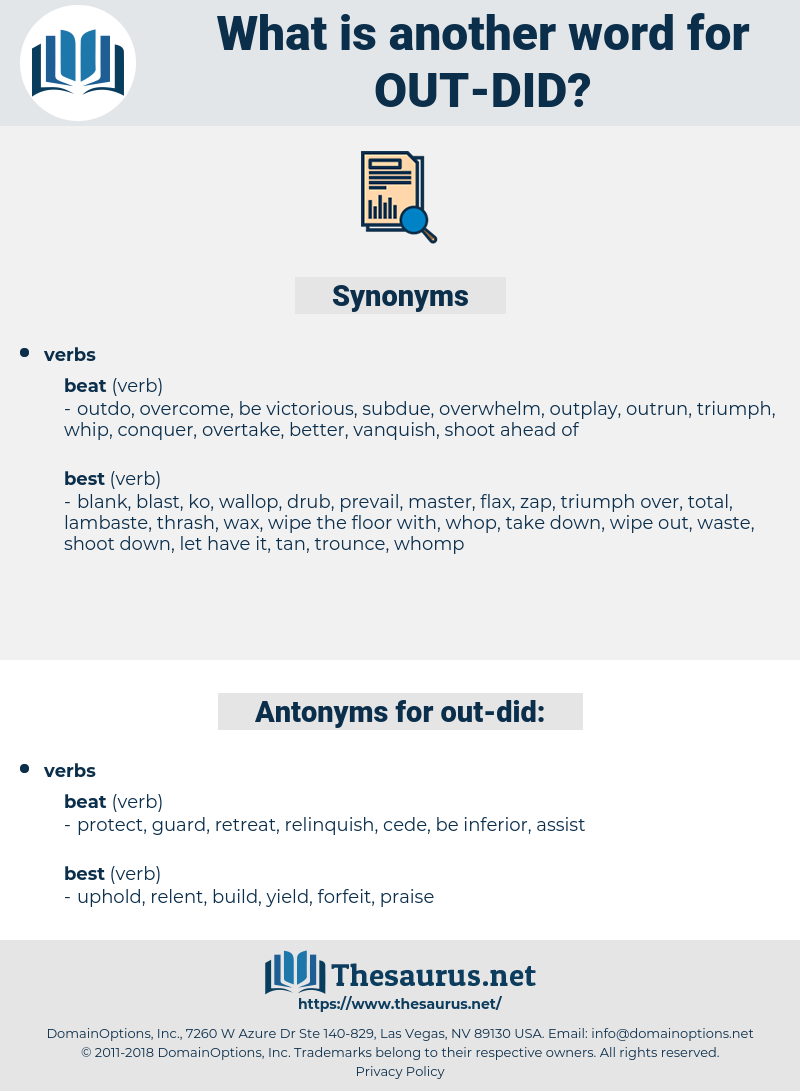 out did, synonym out did, another word for out did, words like out did, thesaurus out did