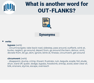 out flanks, synonym out flanks, another word for out flanks, words like out flanks, thesaurus out flanks