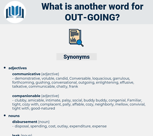 out going, synonym out going, another word for out going, words like out going, thesaurus out going
