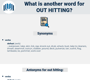 out hitting, synonym out hitting, another word for out hitting, words like out hitting, thesaurus out hitting