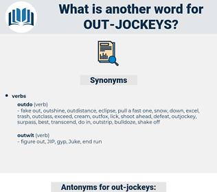 out-jockeys, synonym out-jockeys, another word for out-jockeys, words like out-jockeys, thesaurus out-jockeys