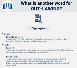 out lawing, synonym out lawing, another word for out lawing, words like out lawing, thesaurus out lawing