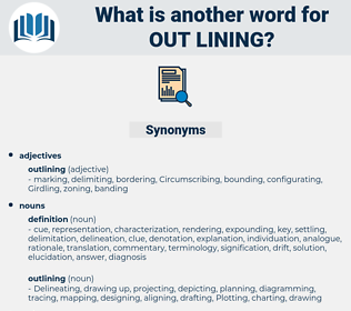 out-lining, synonym out-lining, another word for out-lining, words like out-lining, thesaurus out-lining